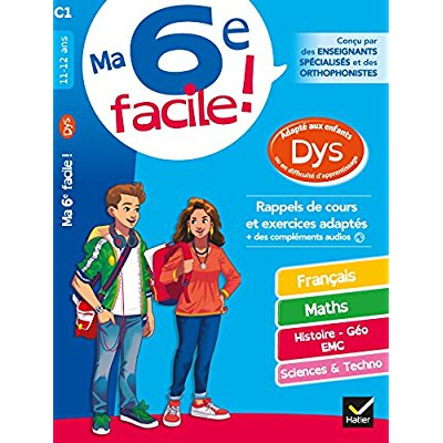 MA 6E FACILE ! ADAPTE AUX ENFANTS DYS OU EN DIFFICULTE D'APPRENTISSAGE