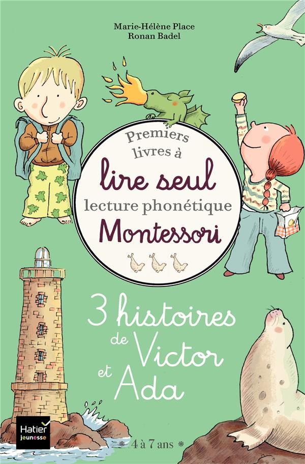 COFFRET PREMIERS LIVRES A LIRE SEUL - 3 HISTOIRES DE VICTOR ET ADA - NIVEAU 3+ PEDAGOGIE MONTESSORI