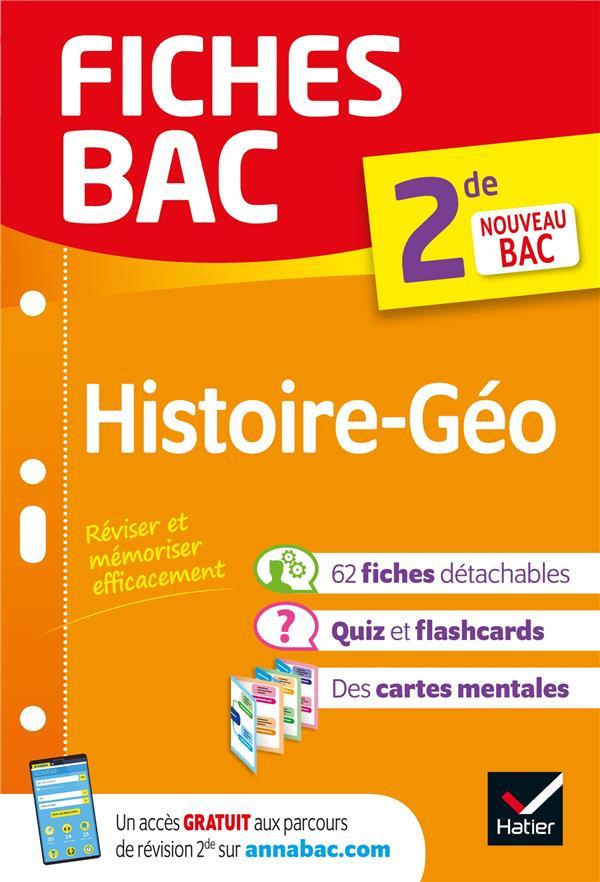 FICHES BAC HISTOIRE-GEOGRAPHIE 2DE - NOUVEAU PROGRAMME DE SECONDE 2019-2020
