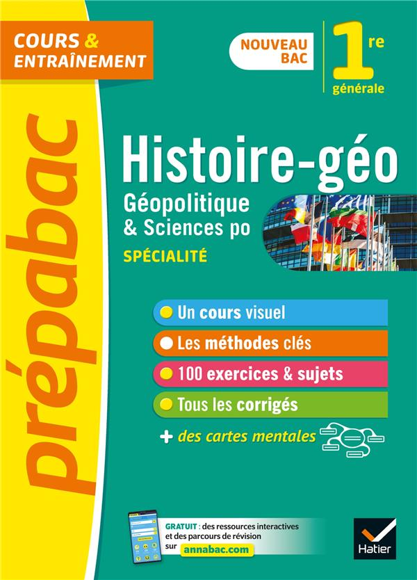 HISTOIRE-GEO, GEOPOLITIQUE, SCIENCES POLITIQUES 1RE (HGGSP) - PREPABAC - NOUVEAU PROGRAMME DE PREMIE