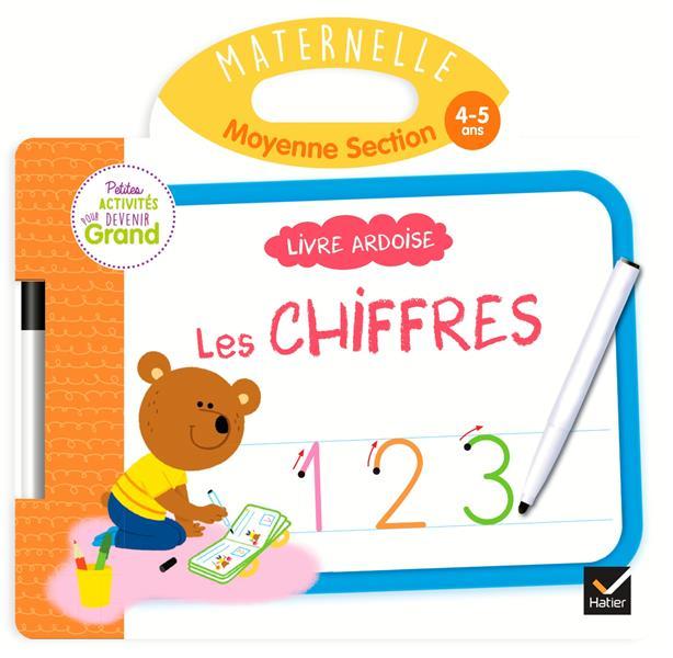LIVRE ARDOISE - LES CHIFFRES MS