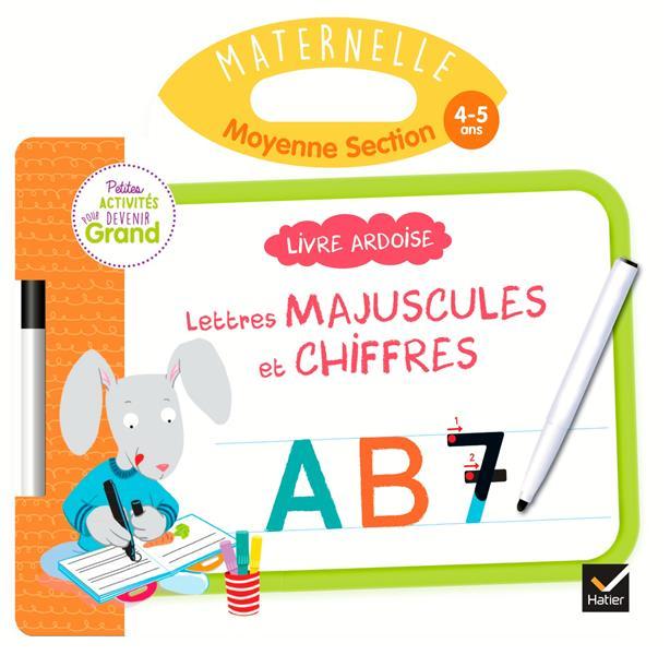 LIVRE ARDOISE - LETTRES MAJUSCULES ET CHIFFRES MS