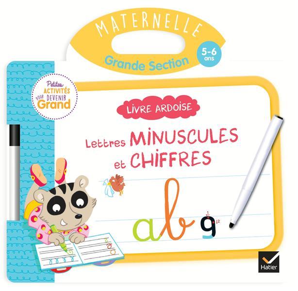 LIVRE ARDOISE - LETTRES MINUSCULES ET CHIFFRES GS