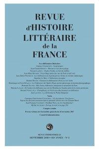 REVUE D'HISTOIRE LITTERAIRE DE LA FRANCE 3 - 2018, 118E ANNEE - N  3 - LES CHIFF - LES CHIFFONNIERS