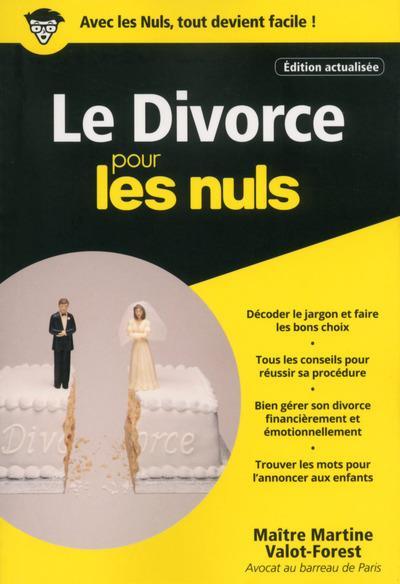 LE DIVORCE POCHE POUR LES NULS - EDITION ACTUALISEE