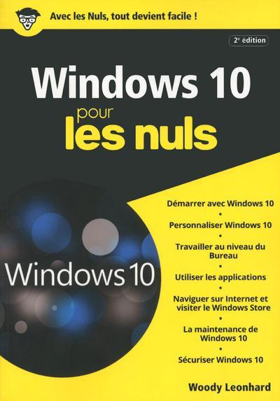 WINDOWS 10 MEGAPOCHE POUR LES NULS 2ED