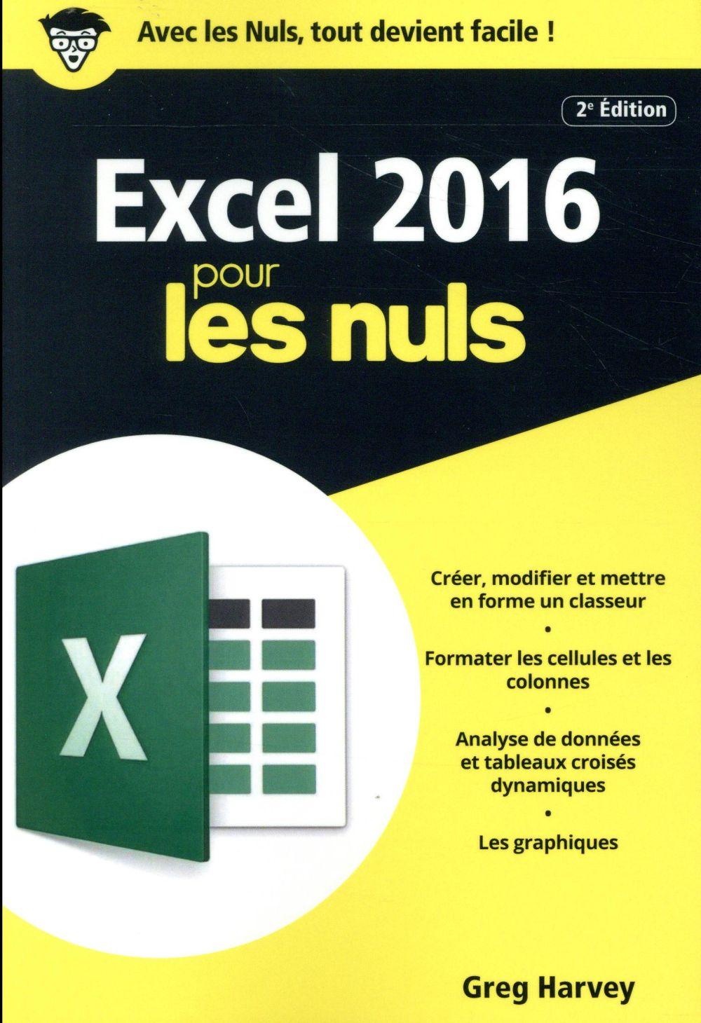 EXCEL 2016 2ED POCHE POUR LES NULS