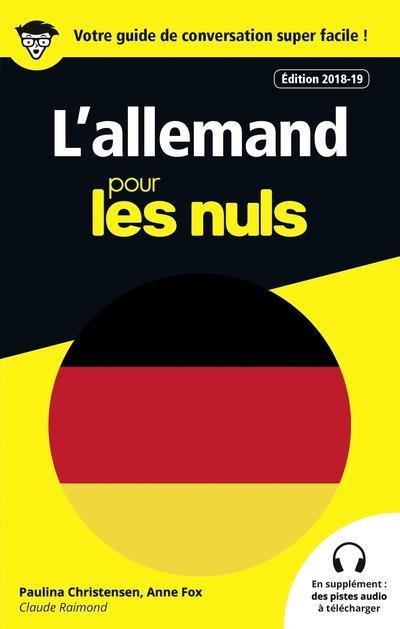 GUIDE DE CONVERSATION L'ALLEMAND POUR LES NULS, 3E EDITION