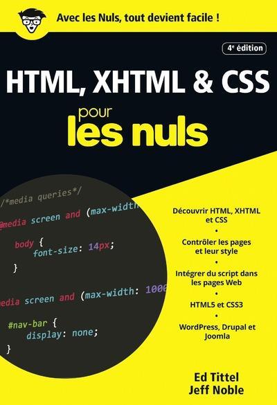 HTML, XHTML & CSS POCHE POUR LES NULS, 4E