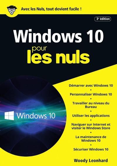 WINDOWS 10, 3E EDITION MEGAPOCHE POUR LES NULS