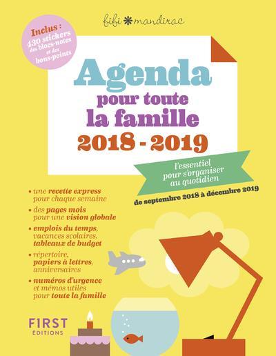 AGENDA POUR TOUTE LA FAMILLE 2018/2019