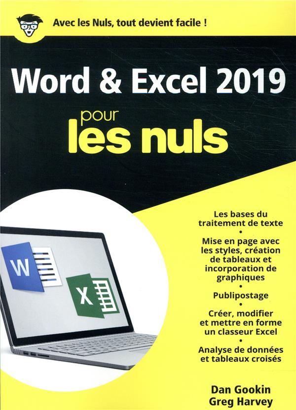 WORD ET EXCEL 2019 MEGAPOCHE POUR LES NULS