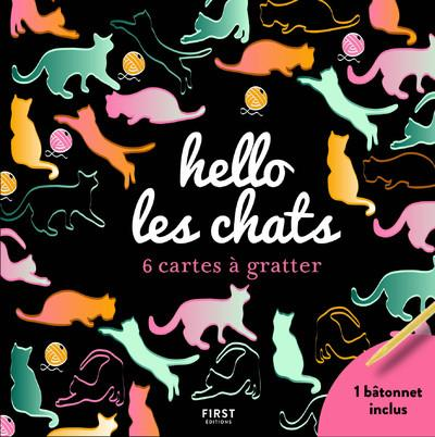 HELLO LES CHATS - 6 CARTES A GRATTER