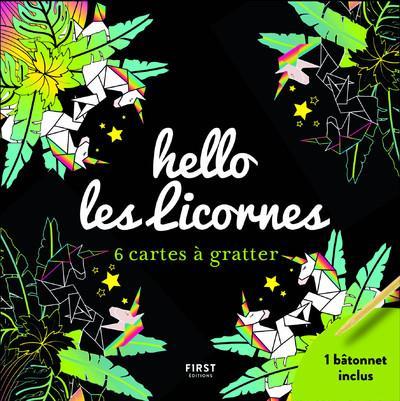 HELLO LES LICORNES - 6 CARTES A GRATTER