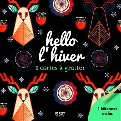HELLO L'HIVER - 6 CARTES A GRATTER