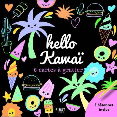 HELLO KAWAI - 6 CARTES A GRATTER