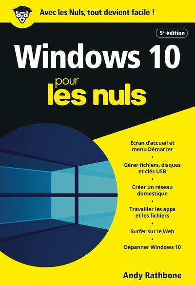WINDOWS 10 POCHE POUR LES NULS, 5E