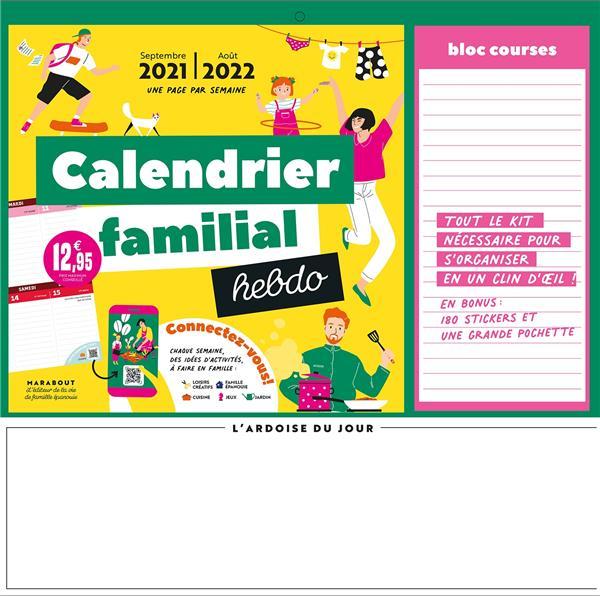 CALENDRIER FAMILIAL HEBDO 2021-2022