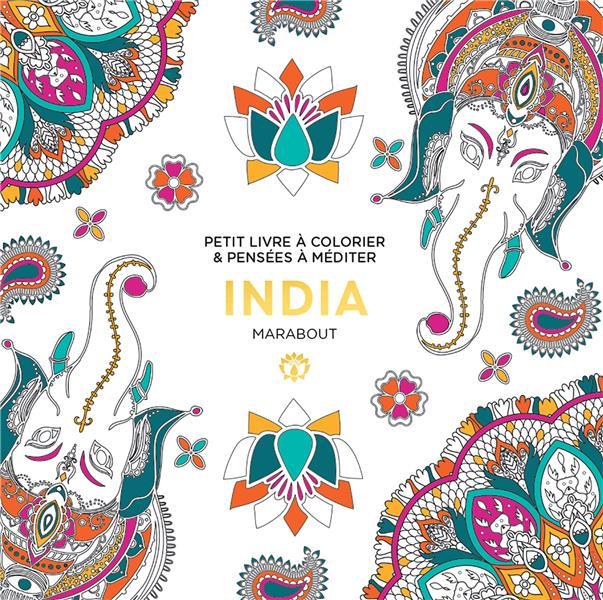 LE PETIT LIVRE DE COLORIAGES : INDIA