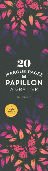 MARQUE-PAGES A GRATTER PAPILLONS