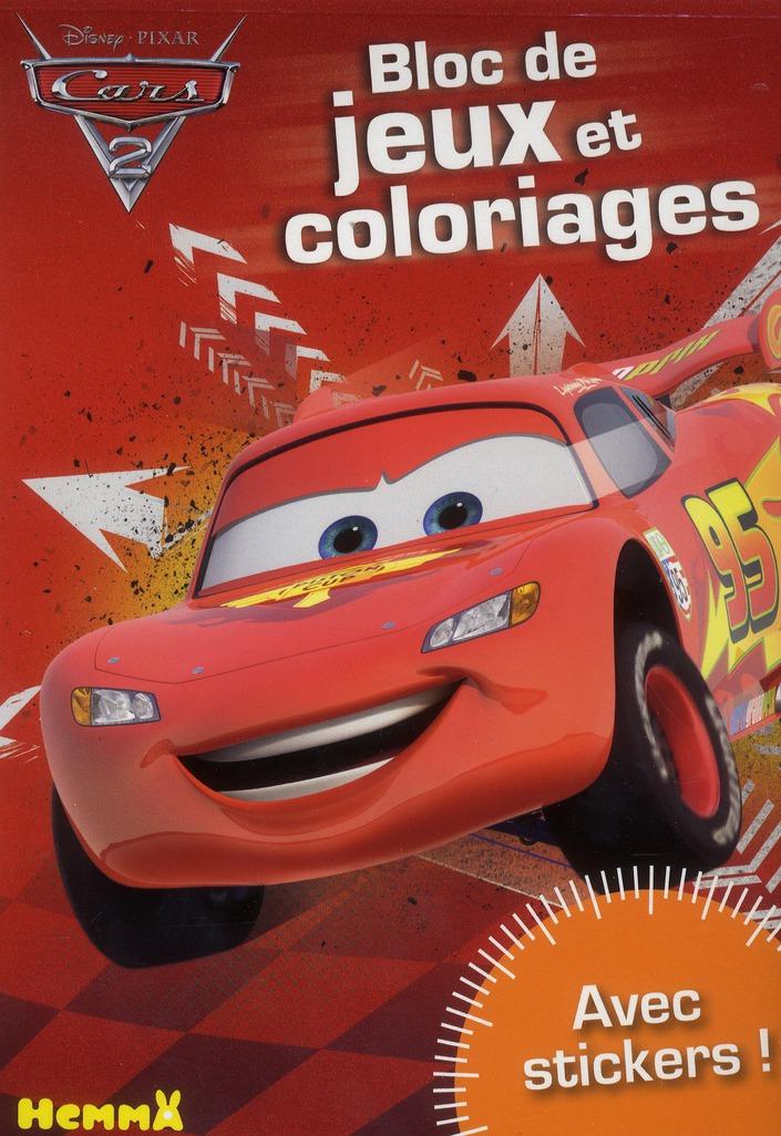 CARS 2 BLOC DE JEUX ET COLORIA