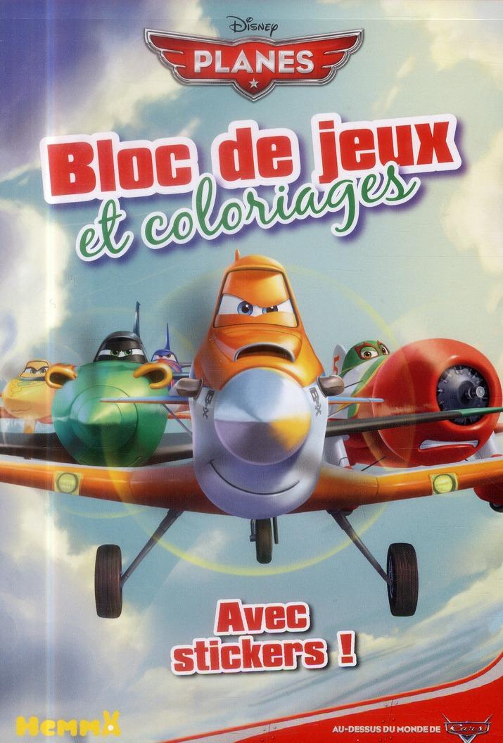 PLANES BLOC DE JEUX ET COLORIA