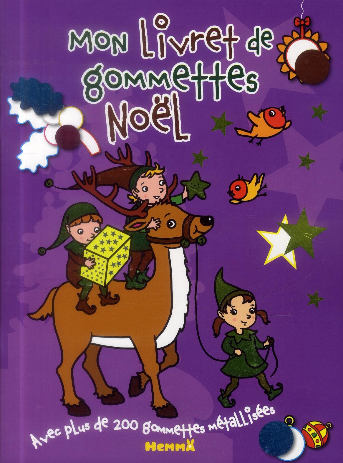 MON LIVRET GOMMETTES NOEL LUTI