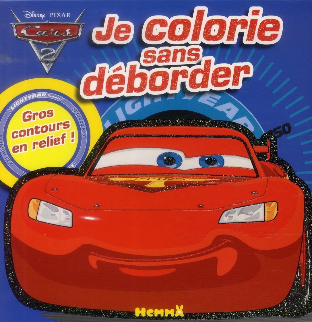 CARS 2 JE COLORIE SANS DEBORDER (FOND BLEU CLAIR)