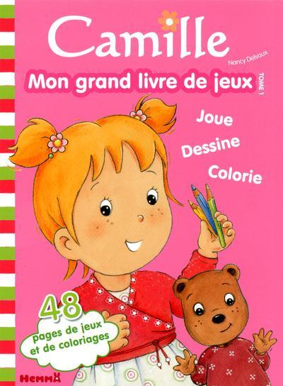 CAMILLE MON GRAND LIVRE DE JEUX TOME 1 (FOND ROSE)