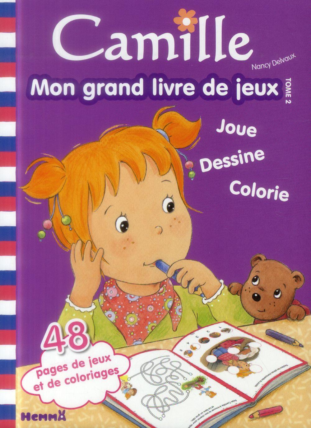 CAMILLE MON GRAND LIVRE DE JEUX TOME 2 (FOND MAUVE)