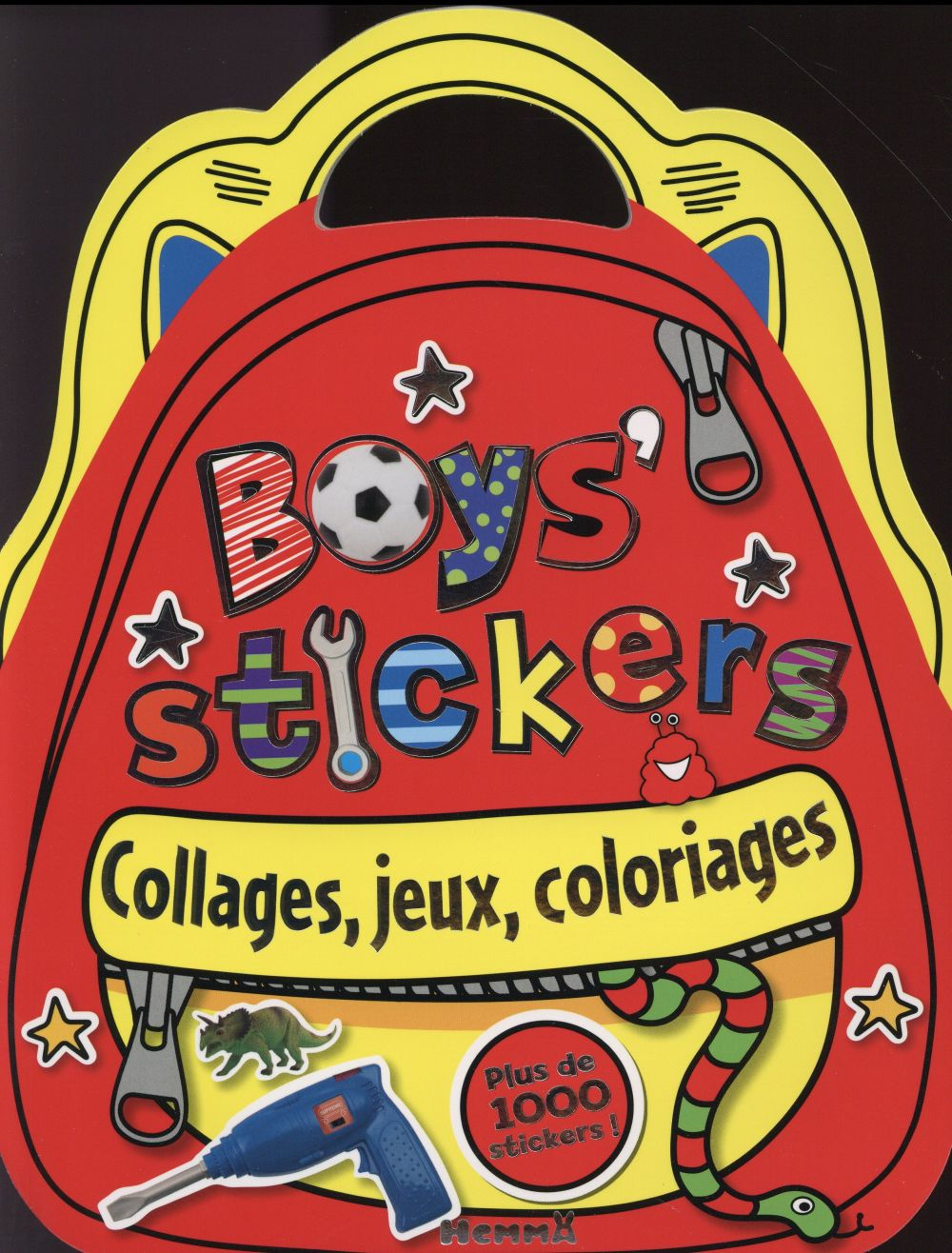 BOYS STICKERS COLLAGES, JEUX, COLORIAGES