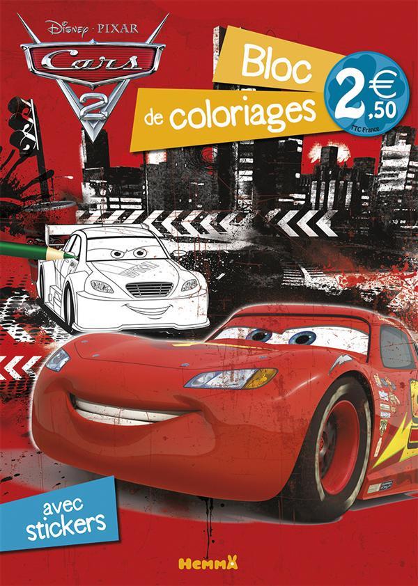 CARS 2 BLOC DE COLORIAGES AVEC STICKERS