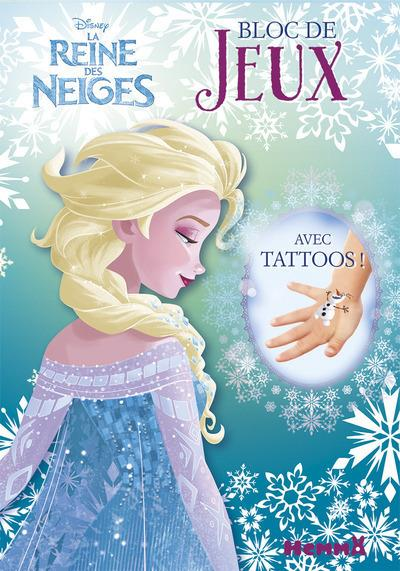 DISNEY LA REINE DES NEIGES BLOC DE JEUX AVEC TATTOOS !