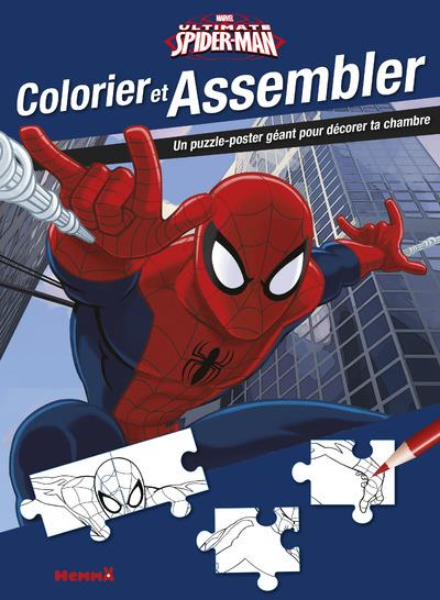 MARVEL ULTIMATE SPIDER-MAN COLORIER ET ASSEMBLER