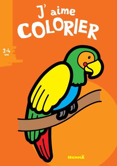 J'AIME COLORIER (2-4 ANS) (PERROQUET)