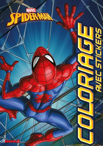 MARVEL SPIDER-MAN COLORIAGE AVEC STICKERS (VUE DE DOS)