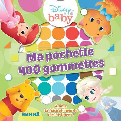 DISNEY BABY - MA POCHETTE 400 GOMMETTES (FOND VERT)