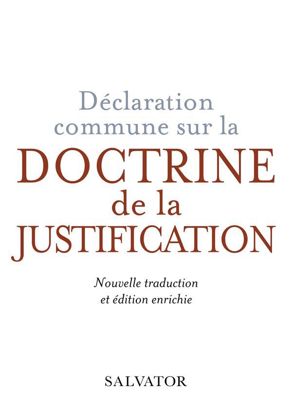 DECLARATION COMMUNE SUR LA DOCTRINE DE LA JUSTIFICATION