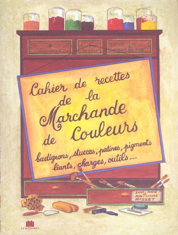CAHIER DE RECETTES DE COULEURS