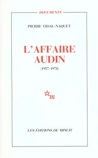 L'AFFAIRE AUDIN 1957-1978