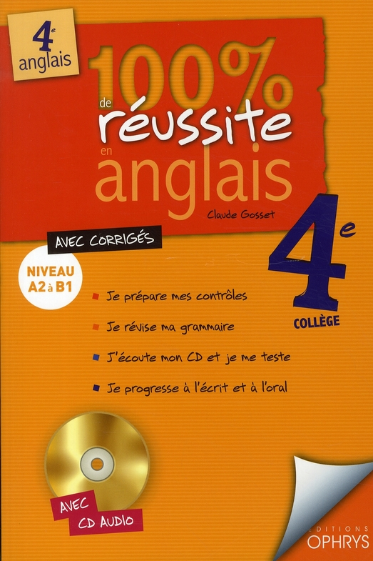 100% REUSSITE ANGLAIS 4EME