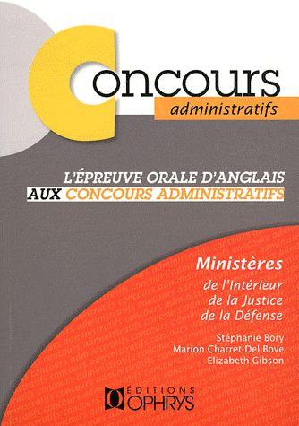 CONCOURS ADMINISTRATIFS - EPREUVE ORALE