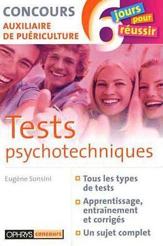 TESTS PSYCHOTECHNIQUES - CONCOURS AUXILIAIRE DE PUERICULTURE