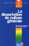 LA DISSERTATION DE CULTURE GENERALE