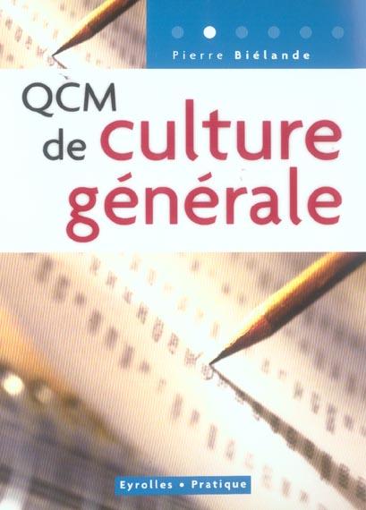 QCM DE CULTURE GENERALE