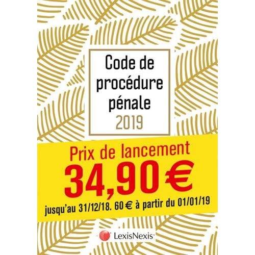 CODE DE PROCEDURE PENALE 2019 - FEUILLES