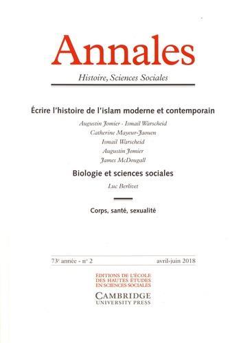 ANNALES HISTOIRE SCIENCES SOCIALES 2018/2