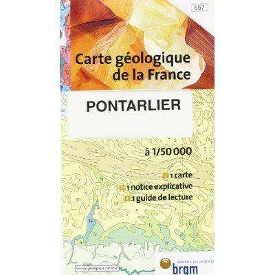 PONTARLIER GEOLOGIQUE 1/50 000