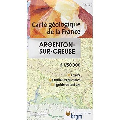 ARGENTON SUR CREUSE 1/50 000 CARTE GEOLOGIQUE 593