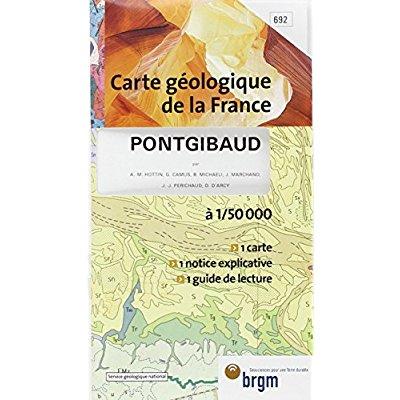 PONTGIBAUD CARTE GEOLOGIQUE 1/ 50 000